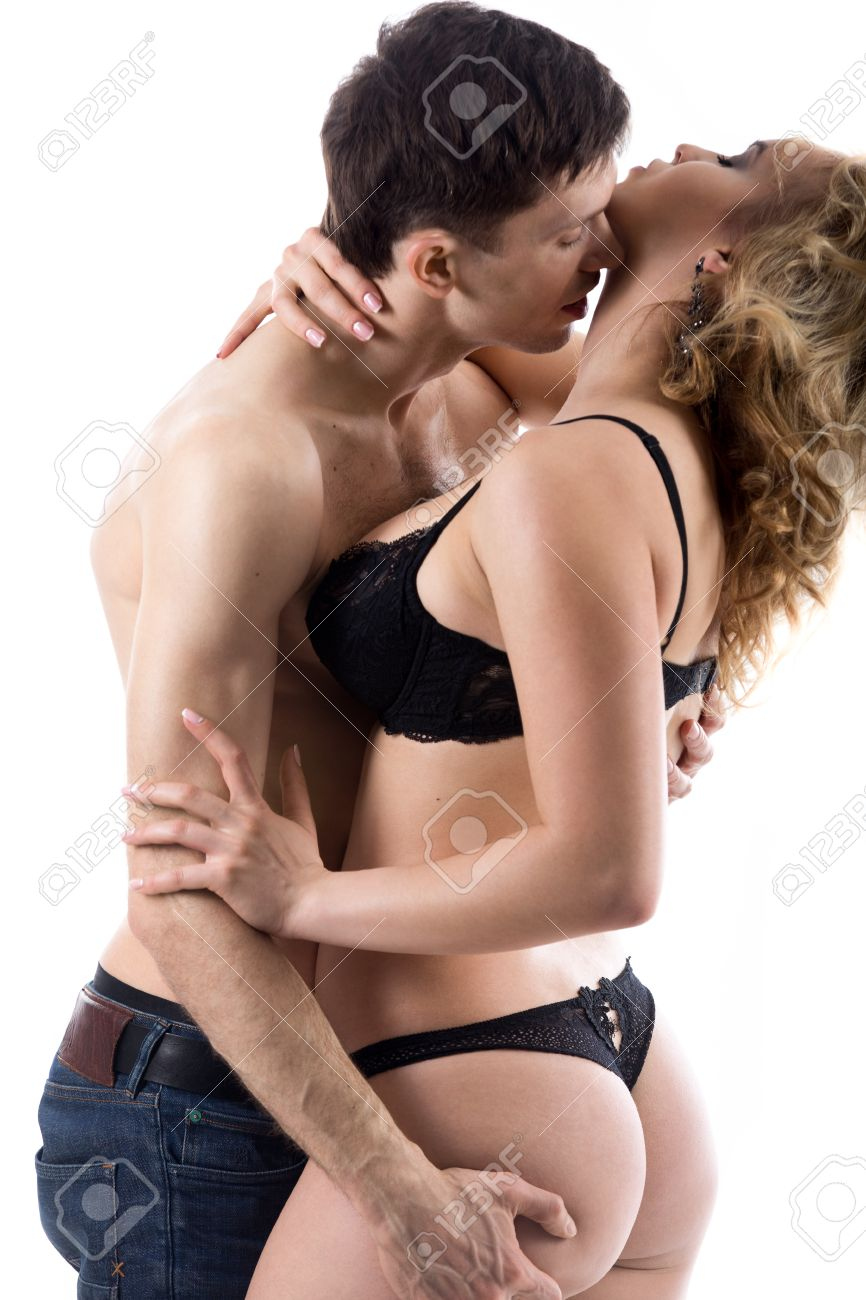 Naked girl and guymaking out