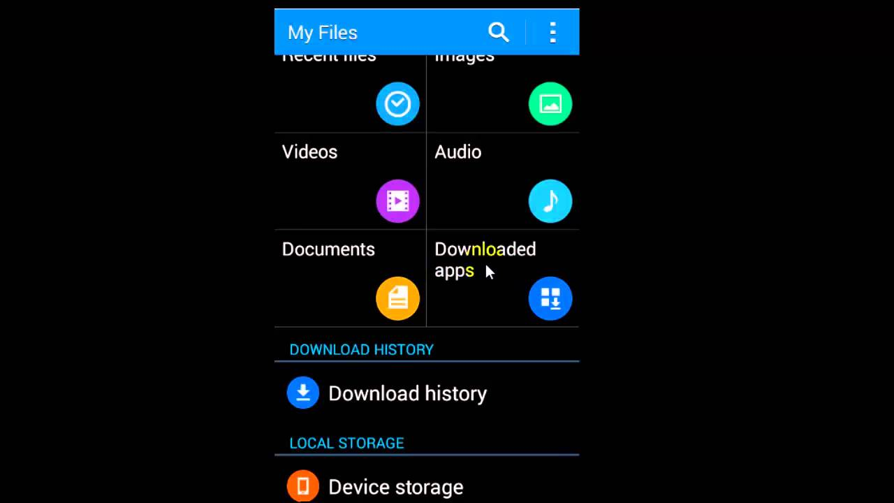 How to delete downloads on samsung phone