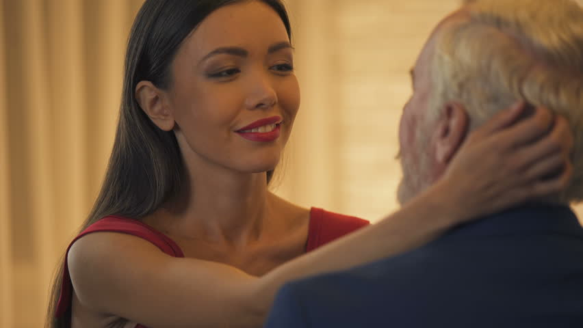 Young girl and old man video