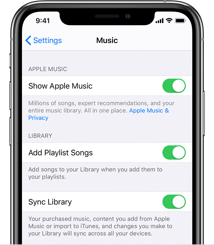 Apple itunes library