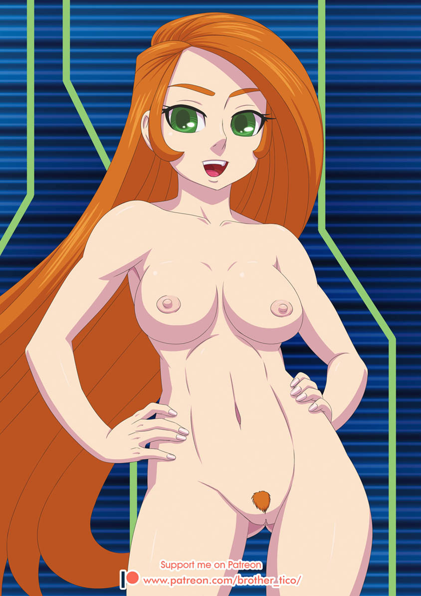 Give me the images of naked kim possible