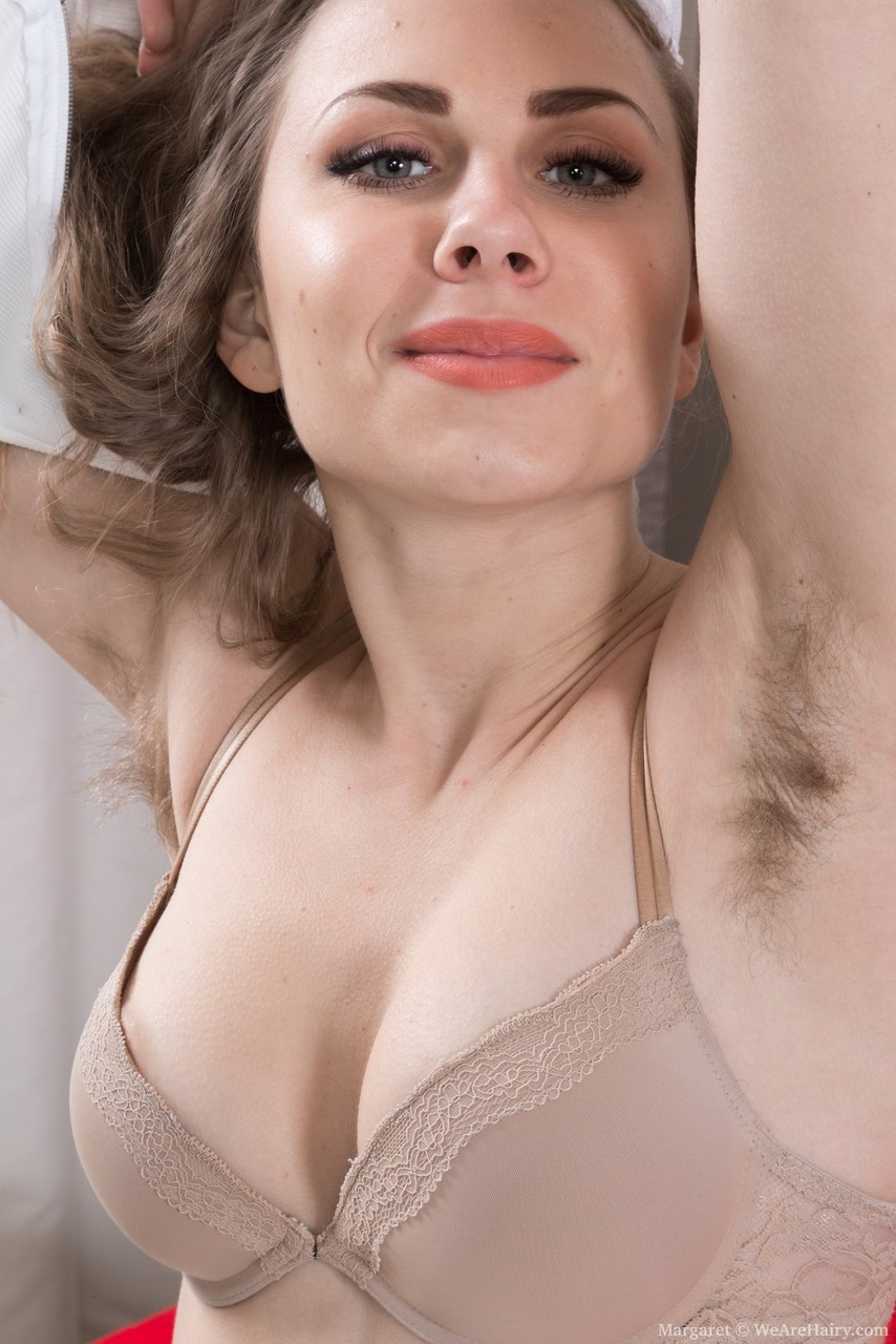 Nude and hairy underarm
